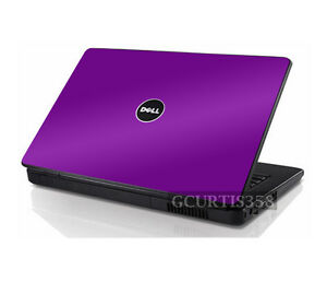 PURPLE Vinyl Lid Skin Cover Decal fits Dell Inspiron 1545 1546 Laptop