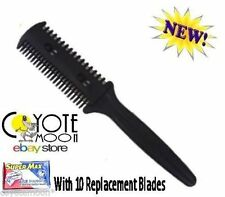 Hair Razor Comb,+ 10 Blades, Cut/Scissor/Hairdressing RECORDED DELIVERY.UK