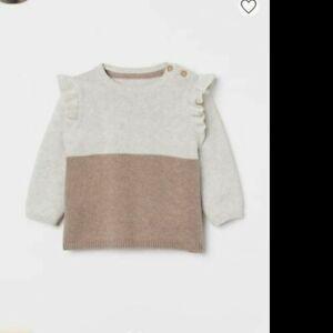 H&M Toddler Girl light brown Knit Sweater 6-9 Months