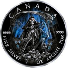 1 Oz Maple Leaf Grim Reaper Sensenmann ARMAGEDDON Canada Ruthenium Reverse Proof