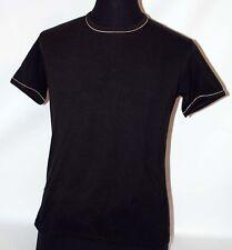 Prima Classe maglia nero mappa t shirt manica corta Alviero Martini S uomo