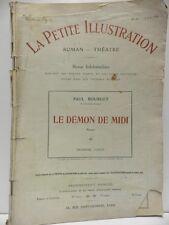 Revue LA PETITE ILLUSTRATION le Démon de Midi 3 Paul Bourget roman théatre 1914