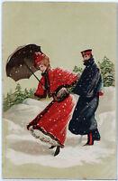"""Farblithographie um 1890-Edgar Schmidt Design """"MODE"""" und """"Gesellschaft"""""""