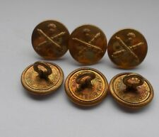 six pre war italian artillery vintage buttons by firmin & sons ld london