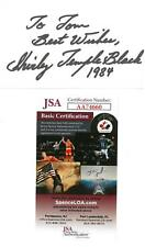 Shirley Temple Black Signed Auto 3x5 Cream Index Card Personalized JSA #AA74660
