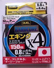 DUEL HARDCORE EGI/SQUID PE/BRAID Dia 0.8- Rating 14lb -150M Made in Japan