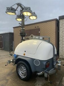 TOWER LIGHT ECO DIESEL HYDRAULIC LED ROAD TOWABLE FULLY SERVICED 7500 HRS