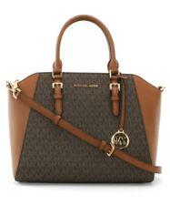 Michael Kors Ciara LG Tz Satchel PVC/Leather Braun 35S9GC6S3B