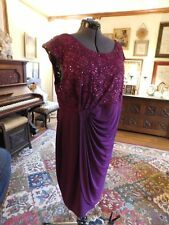 BEAUTIFUL PLUM MOTHER OF THE BRIDE OR GROOM OR FORMAL SPECIAL OCCASION SIZE 20W