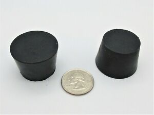 """#6 Solid Rubber Stoppers. Lab Tapered Plug Cork. Fits 29/32"""" - 1 1/16"""" ID"""