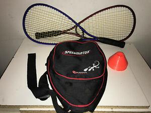Speedminton Rackets (2) with Case