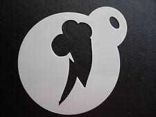 Taglio laser piccoli Cutie Mark Schiarente Design Cookie, CRAFT & Face Painting Stencil