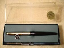 Parker 45 Black Gold-Trim Fountain Pen in Original Box