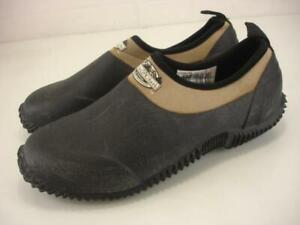 Women's 9 M Lewis & Clark Muck Black Muckster Waterproof Gardening Shoes Slip-On