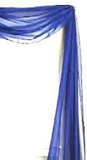 ROYAL BLUE SCARF SHEER VOILE WINDOW TREATMENT CURTAIN DRAPE VALANCE 1SCARF ONLY