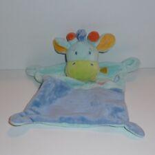 Doudou Girafe Mots D'enfants - Bleu
