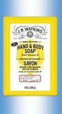 J.R. WATKINS HAND AND BODY SOAP BAR, LEMON CREAM SHEA BUTTER, 8 oz.