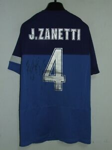 Soccer Jersey Trikot Camiseta Maillot Sport Inter Zanetti 4 Signed Size L