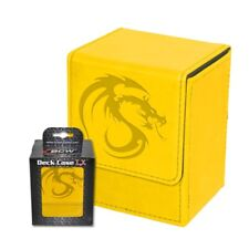 1 BCW Deck Case LX YELLOW MTG CCG Pokemon Protector Storage Box