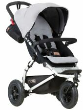 Mountain Buggy Swift 3.0 V3 Compact 3 Wheel All Terrain Baby Stroller Silver NEW
