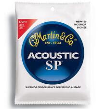 5 Sets Martin SP MSP4100 Light Gauge Phosphor Bronze Acoustic Guitar Strings