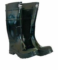 Boss Black PVC Rubber Work Boots ~ Men's Size 10
