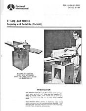 "Delta 37-315 8"" Jointer Instructions Manual/ Parts List PDF"