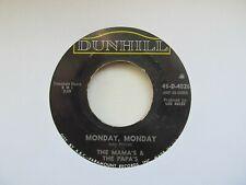 "THE MAMA'S AND THE PAPA'S Monday Monday USA 7"" Single VG+ Cond LD 1"