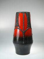 Fohr Keramik Vase WGP Fat Lava 502 20  ca.20,5cm 70s Rot