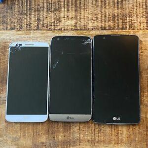 Lot x3 BROKEN LG (G5, G2, Stylo 2) Verizon PARTS ONLY #14