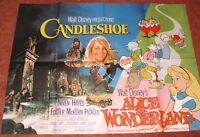 Candleshoe + Alice In Wonderland Walt Disney UK Original Quad Film Poster 1976