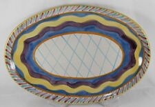 """Solimene Vietri Hand Painted Italy Platter 16.25"""" Colorful Serving Dish"""