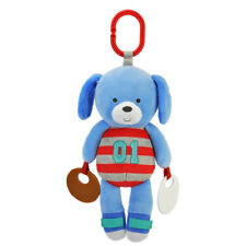 Carter's Plush Blue Sports Puppy Dog Teething Toy for Baby Boy Ages Birth+ NEW