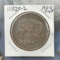 1901-O US Morgan Silver Dollar $1 90% US Collectible Coin F-VF #111020-2