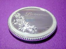 Bridesmaid - Silver Plate/Enamel Compact Mirror.