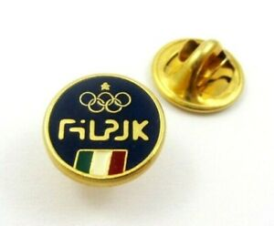 Italy NOC FILPJ  Federation of Wrestling, Weightlifting and Judo Olympic Pin