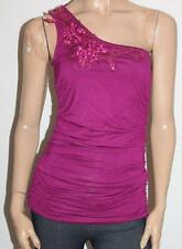 CROSSROADS Designer Cerise One Shoulder Corsage Top Size S BNWT #sb19