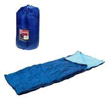 SINGLE SLEEPING BAG CAMPING BAG CARAVAN WINTER WARM ADULT SIZE WITH CARRY BAG