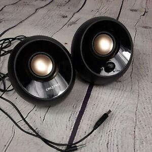 Creative Labs 51MF1680AA000 Pebble USB 2.0 Desktop Speakers - Black