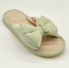 DuDu Town Womens Cozy Town Slide Slippers EUR 38/39 Open Toe Blue Stripe NEW