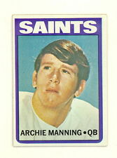 1972 TOPPS FOOTBALL ARCHIE MANNING ROOKIE CARD #55 EX-EXMT NO CREASES (494)