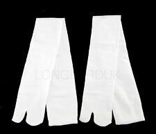 Extra Larga Blanco Calcetines Tabi japonés 2-Toe Flip Flop Sandal CALCETINES GETA Geisha