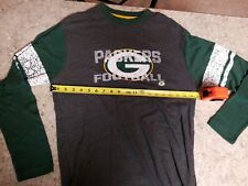 Men's Greenbay Packers Long Sleeve Shirt Sz M By Majestic gray Nice condition