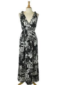 H&M Women Dresses Maxi 6 Black Polyester