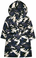 Boys Camo Dressing Gown Kids New Soft Touch Robe Ages 7 8 9 10 11 12 13 Years