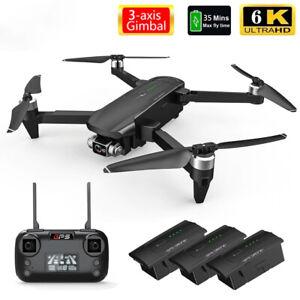 CSF100 GPS Drone 6K HD Camera 3-axis Gimbal Dron WIFI FPV Foldable RC Quadcopter