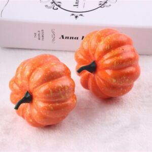 5 pcs Artificial Pumpkins Vegetables Foam Plastic Ornament Kitchen Decor 8x5cm
