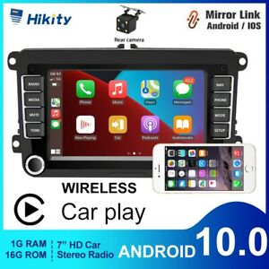 "Android 10.0 For VW Golf MK5 MK6 Jetta RCD330 7"" Car Navi GPS WiFi CarPlay Radio"