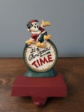 MIDWEST Cast Iron Disney - IT'S CHRISTMAS TIME - MICKEY STOCKING HOLDER Hanger