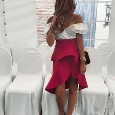 Zara Fuchsia Rose volantée Jupe Taille M Bnwt